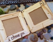 i choose you Hinged Small Frames Personalized with Initials Custom Frame Wedding Boyfriend Girlfriend Special Friend Anniversary Wood Frame