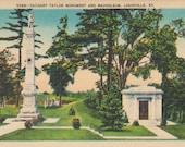 Zachary Taylor Monument, Mausoleum, Louisville, Kentucky - Vintage Linen Postcard - Unused (AAA)