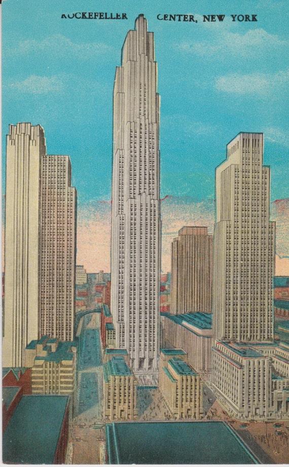 Rockefeller Center New York City New York Vintage Postcard