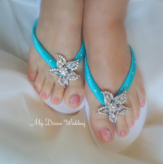 Bridal Flip Flops Wedding Sandals
