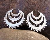 Sufi silver earring