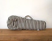 Soprano ukulele case - Black and white stripe Ukelele Case with hidden pocket (Ready to ship)
