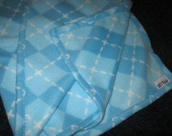 Blue Micro Fleece Baby Blanket Throw