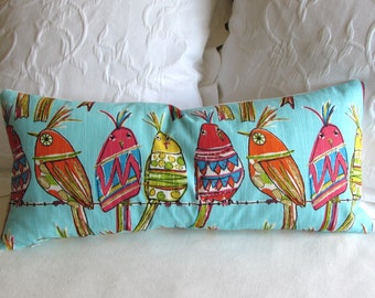 PERCHED BIRDIES pillow cover 12x26