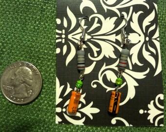 Resistor and capacitor earrings