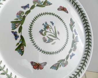 Vintage Portmeirion Botanic Garden Buffet Dinner Plate 10.5 inch forget-me-nots