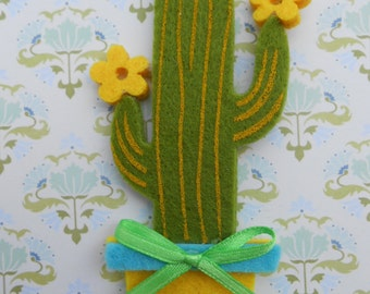 SALE 50% OFF Cactus Felt Applique 4 pcs.