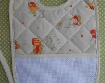 Sitchable Quilted Bib Yellow