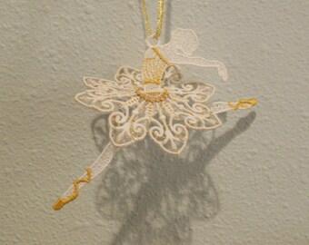 Ballerina 3-D Lace Ornament