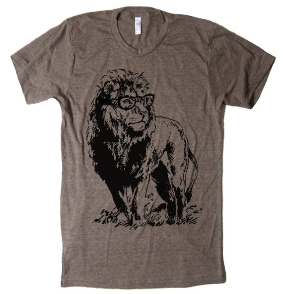 Lion T Shirt Smart Lion T Shirt Funny T Shirts For Book Readers Lion in Glasses T Shirt Gifts For Book Worms T Shirt Animal Mens T Shirt