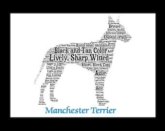 Manchester Terrier,Manchester Terrier Art, Manchester Terrier Artwork,Manchester Terrier Print,Manchester Terrier Gift
