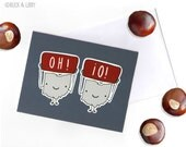 OH! IO! Ohio State card with Envelope blank inside