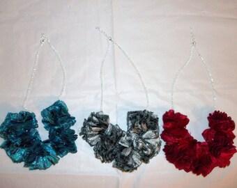 Shimmering Ribbon Necklaces
