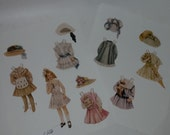 vintage paper supplies Jack and Jill children's magazine page paper doll girl with clothes outfits color