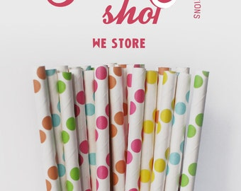 25 PAPER STRAW with free printable DIY Toppers - Sweet Shop