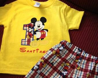 Custom made Mickey birthday set