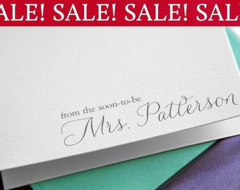 Thank You From the Soon-to-Be Mrs. Bridal Shower Thank You Cards, Future Mrs., Bachelorette, Bridal Wedding Shower Gift Idea (Set of 100)