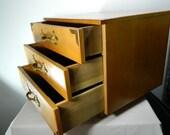 Vintage Tansu Box Doll Dresser Large Wooden Jewelry Box, Vintage Drawers