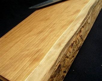 Natural cutting board Rustic Wood Cutting Board, OOAK, reclaimed handsome Cherry Wood