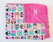 SALE SALE SALE //Hootie Owl Minky Adult Blanket Ready to ship