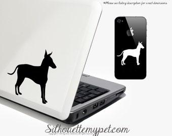 Manchester Terrier Decal Vinyl Sticker - SilhouetteMYpet Design:MCT01