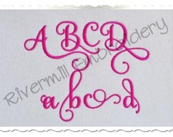 Samantha Script Alternate Set 3 Machine Embroidery Font Monogram Alphabet - 3 Sizes