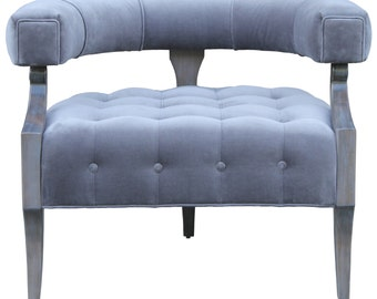 Bronson modern velvet barrel chair