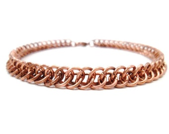 Men's Copper Bracelet Half Persian Chainmail Jewelry
