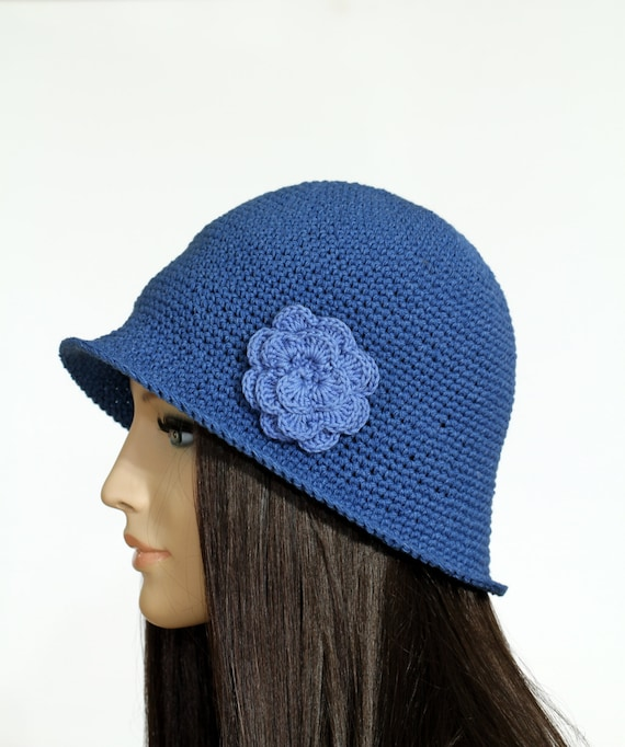 Beginner Crochet Hat Tutorial : Crochet Brimmed Hat Pattern Crochet Garden Hat by etty2504 ...