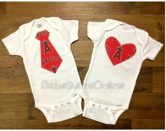 Los Angeles Angels of Anaheim Bodysuit- You Choose Heart or Tie