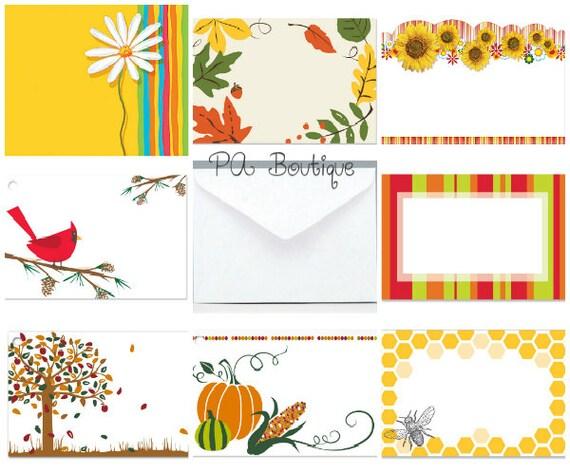 Ct autumn fall assortment florist blank enclosure cards