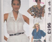 McCall's 9613 Misses' Blouses Pattern, UNCUT, Size 14, Loose Fitting, Vintage 1985, Summer Blouse, Work Wear, Casual