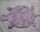 Quilted Labyrinth in Turtle Shape/Batik Lavender & Solid Dark Purple Fabrics