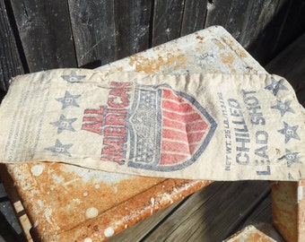 Vintage All American Chilled Lead Shot Bag