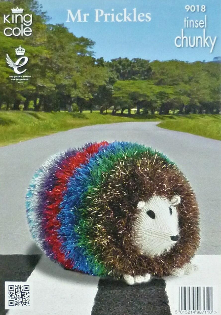 Tinsel Hedgehog Knitting Pattern : K9018 Giant Rainbow Hedgehog Toy Knitting Pattern in ...
