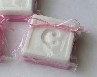 Monogrammed Soap - personalized with initial - choose colors and scent
