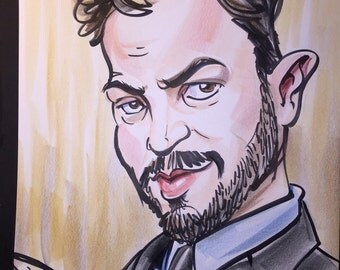 Caricatures Drawn in Marker and Colored with Artstix