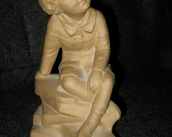BRETBY English Terra Cotta Figure of a Young Boy -  CA 1920's