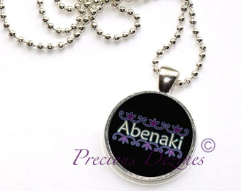 Abenaki with double curves pendant necklace