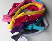 Thin jersey knit tie headbands- pick a color