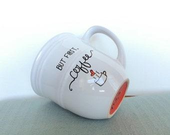 But first, coffee handpainted 12oz mug