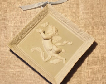 Vintage 3D Angel Wall Plaque Napco