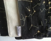 Organic Blanket - Black Constellation Map, Baby Blanket, Crib, Twin Sized Blanket, Twin Duvet, Twin Quilt, Galaxy Decor