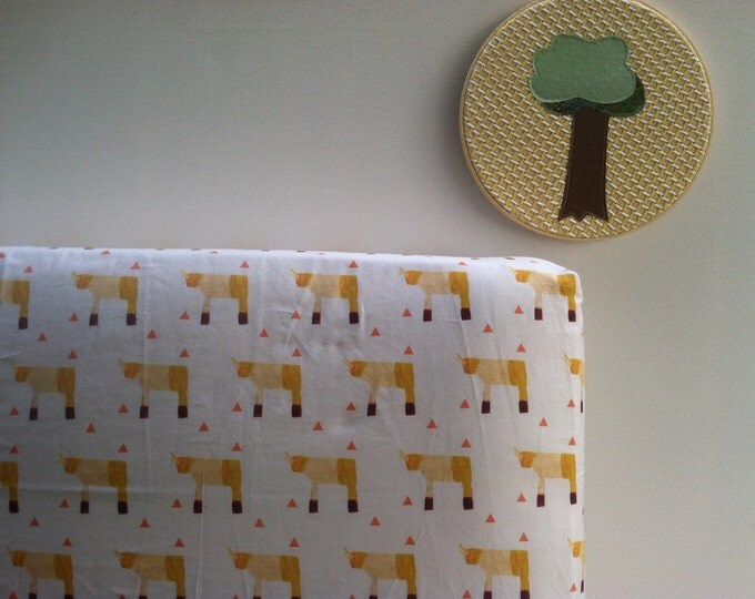 Organic Baby Bedding, Crib Sheet, Changing Pad Cover - Sunny Rhinos