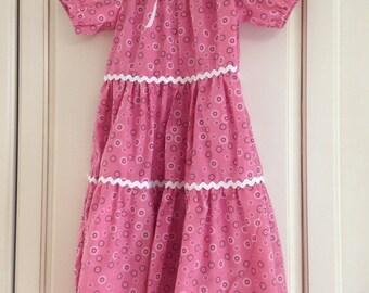 Pink Sunburst 6T Girl's Dress