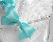 Bridal Flip flops, Bridesmaid gift, Party favors Aqua Flip Flops, wedding flip flops, bridal favor, bridal shower gift, wedding shower gift