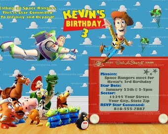 Printable Toy Story Invitation, Buzz Lightyear Invitation, Toy Story Party