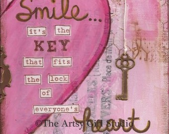 SMILE  - Art Print, Available in three sizes