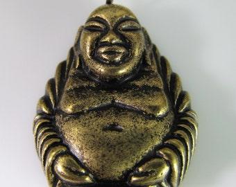 2 Vintage Antique Gold Buddha Pendant Pd704