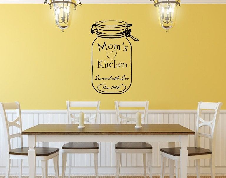 custom vinyl wall decal moms kitchen jar by